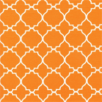 Tiles Orange Contemporary Indoor/Outdoor Fabric