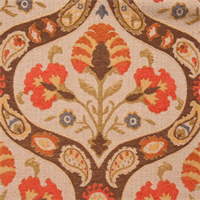 Russo Tangerine Chenille Upholstery Fabric by Swavelle Mill Creek