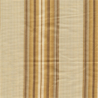 Candia Vanilla Striped Faux Silk Drapery Fabric by Swavelle Mill Creek