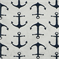 Anchors Premier Navy Slub Cotton Drapery Fabric By Premier Prints