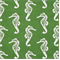 Seahorse Coastal Green/Slub Cotton Slub Drapery Fabric By Premier Prints
