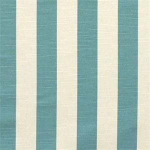 Stripe Coastal Blue/Slub Cotton Drapery Fabric By Premier Prints