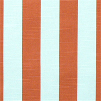 Stripe Salmon/Slub Cotton Drapery Fabric By Premier Prints