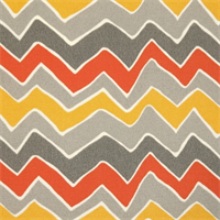 Seesaw Citrus Chevron Indoor/Outdoor Print by Premier Prints