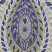 Divine Paisley Floral Indigo Upholstery Fabric