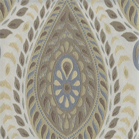 Divine Paisley Floral Heather Upholstery Fabric