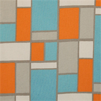 Hopscotch Mandarin/Natural Drapery Fabric by Premier Prints