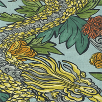 Ming Dragon Aquatint Drapery Fabric by Robert Allen