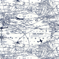 Air Traffic Premier Navy by Premier Prints - Drapery Fabric