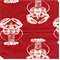 Lobster Timberwolf Red Macon Drapery Fabric by Premier Prints