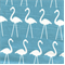 Flamingo Coastal Blue/Slub Drapery Fabric by Premier Prints