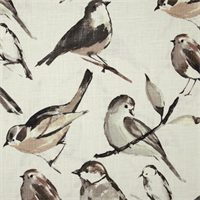 Birdwatcher Charcoal Drapery Fabric by Richloom