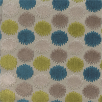Magical Peacock Ikat Chenille Woven Dot Upholstery Fabric by P Kaufman