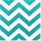Zig Zag True Turquoise/White Stripe Premier Print Drapery Fabric
