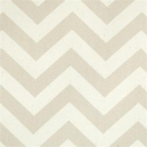 Zig Zag Khaki Natural Stripe Premier Print Drapery Fabric