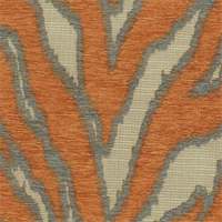Katniss Tangerine Chenille Animal Design Upholstery Fabric by Swavelle Mill Creek