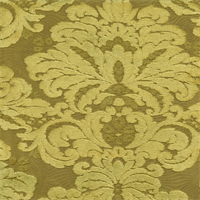 M9525 Lichen Green Embossed Chenille Floral Upholstey Fabric by Barrow Merrimac