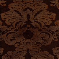 M9525 Mink Brown Embossed Chenille Floral Upholstey Fabric by Barrow Merrimac
