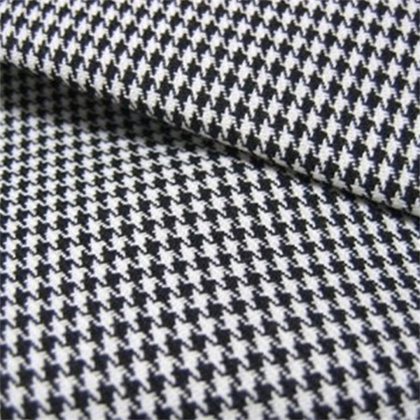 Harper Houndstooth Black White Upholstery Fabric By Roth And Tompkins