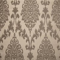 Paulina Silver Floral Ikat Chenille Embossed Woven Upholstery Fabric