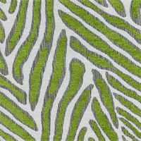 Canal Lime Animal Design Woven  Upholstery Fabric