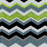 Chevron Spearmint Stripe Chenille Upholstery Fabric