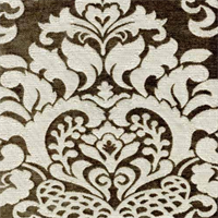 Elegance Taupe Woven Floral Upholstery Fabric