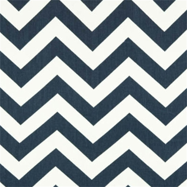 Navy Chevron Fabric | Blue and White Chevron Fabric