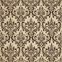 Madison Chocolate/Linen Drapery Fabric by Premier Prints