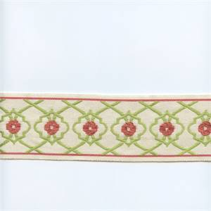 EA271/07 Lime Green/Rose Pink Tape Trim