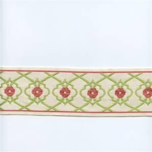EA271/07 Lime Green/Rose Pink Tape Trim