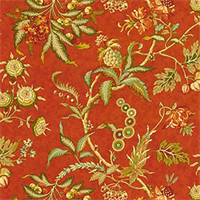 Hidden Hideaway Lava Floral Cotton Drapery Fabric