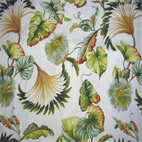 Isola Coconut Floral Cotton Drapery Fabric