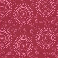 Esha Raspberry Pink Reversable Floral Upholstery Fabric