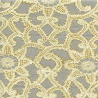 Like Lace Platinum Floral Drapery Fabric by Waverly