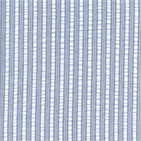 Party Line Chambray Blue Stripe Drapery Fabric by Waverly