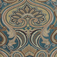 Jaclyn Turquoise Paisley Floral Upholsery Fabric