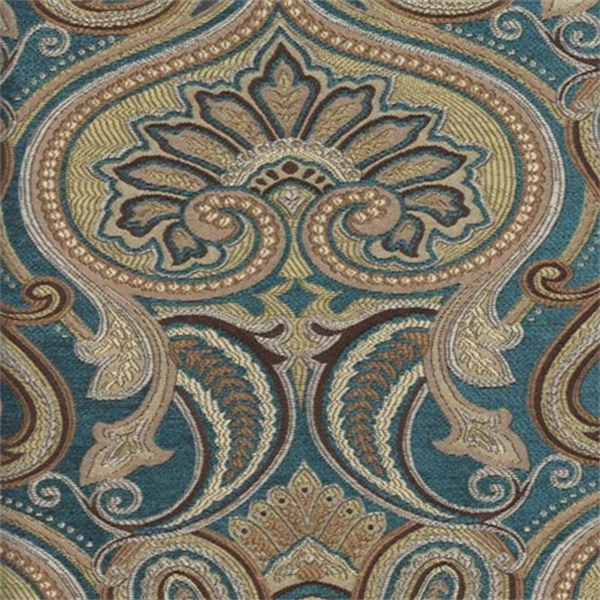 Jaclyn turquoise paisley floral upholsery fabric sw35830 for Cheap fabric by the yard