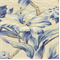 Isarda Sapphire Floral Drapery Fabric by P Kaufman
