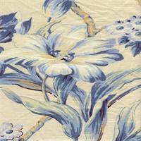 *1 YD PC--Isarda Sapphire Floral Drapery Fabric by P Kaufman