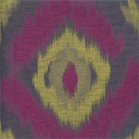 Bursa Silhouette Purple Woven Ikat Drapery Fabric