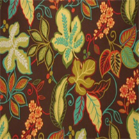 Almondell Terrace Dark Chocolate Floral Drapery Fabric by Swavelle Mill Creek