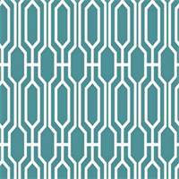 Harland Geometric 522 Peacock Drapery Fabric
