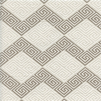 *3 YD PC--On Key Gray Woven Greek Key Upholstery Fabric by Waverly