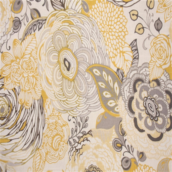 Floral Drapery Fabric