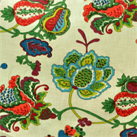 Lebeau Fruitpunch Floral Drapery Fabric