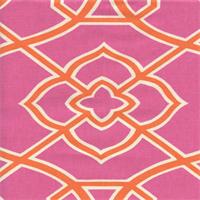 Malibar Hot Pink Contemporary Geometric Drapery Fabric