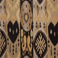 Linda Onyx  Ikat Stripe Upholstery Fabric