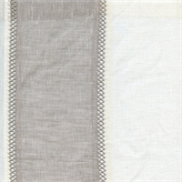St. Tropez Grey Stripe Sheer Drapery Fabric
