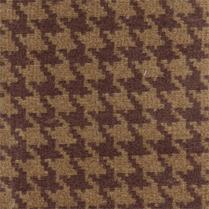 Houndstooth WineTan Chenille Upholstery Fabric - Chenille upholstery fabric